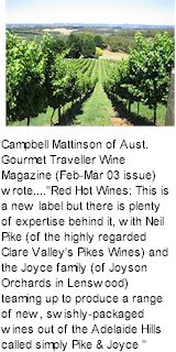 http://www.pikeandjoyce.com.au/ - Pike and Joyce - Tasting Notes On Australian & New Zealand wines